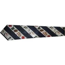 Krawatte: Rettungsdienst schräggestreift