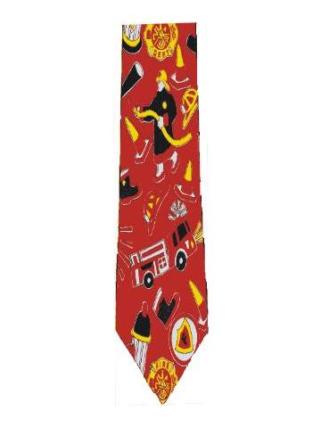 Feuerwehr-Krawatte with Feuerwehrmotiven
