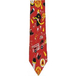 Feuerwehr-Krawatte mit Feuerwehrmotiven