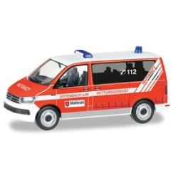 Model car 1:87 VW T6 Bus, NEF, Malteser Offenbach (HES)