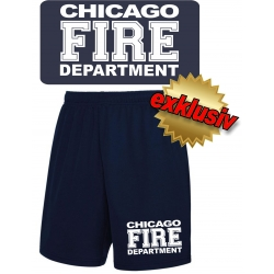 Performace Shorts navy CHIGAO FIRE DEPARTMENT in white