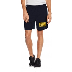 Performace Shorts navy CHIGAO FIRE DEPARTMENT in yellow