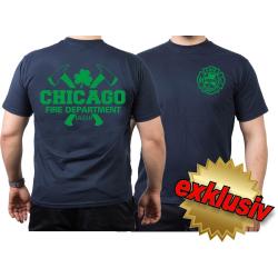 CHICAGO FIRE Dept. axes and IRISH Shamrock, green, navy...