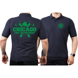 Polo navy, Chicago Fire Dept. mit Äxten IRISH, green
