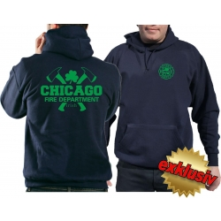 CHICAGO FIRE Dept. axes and IRISH Shamrock, green, navy...