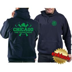 CHICAGO FIRE Dept. axes and IRISH Shamrock, green, azul...
