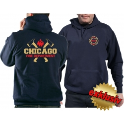 CHICAGO FIRE Dept. golden axes, Standard-Emblem bicolor,...