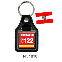 Schlüsselanhänger mit Leder FEUERWEHR 122 (AT)
