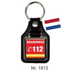 Schlüsselanhänger mit Leder BRANDWEER 112 (NL)