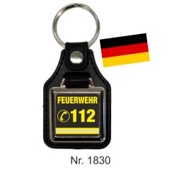 Schlüsselanhänger with Leder FEUERWEHR 112 (D)...