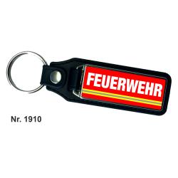 Schlüsselanhänger XL with Leder FEUERWEHR