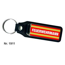 Schlüsselanhänger XL with Leder FEUERWEHRMANN