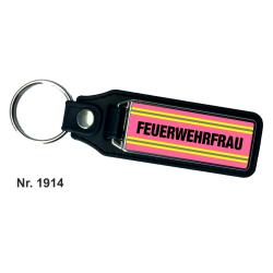 Schlüsselanhänger XL with Leder FEUERWEHRFRAU...