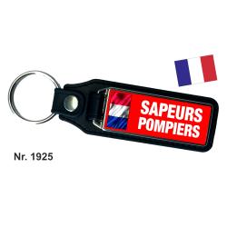 Porte-clés XL avec du cuir SAPEURS-POMPIERS