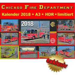 Kalender 2018 Chicago Fire Dept. (3.Jahrgang) - limitiert -