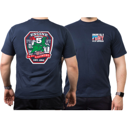 T-Shirt navy, New York City Fire Dept. Godzilla 14th...