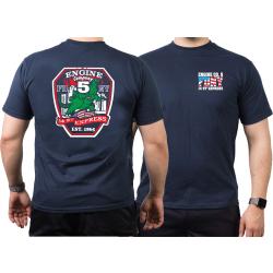 T-Shirt azul marino, New York City Fire Dept. Godzilla...