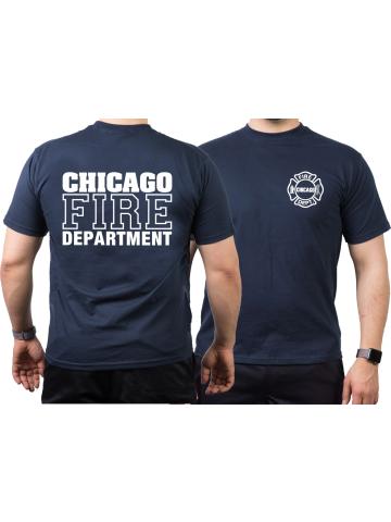 CHICAGO FIRE Dept. Standard, azul marino T-Shirt