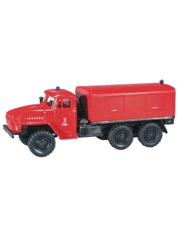 Model car 1:87 Ural Gerätekoffer LKW Feuerwehr