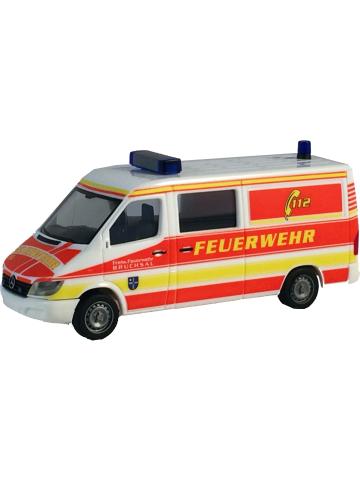 Modello di automobile 1:87 MB Sprinter VRW FF Bruchsal (BaWü)(FEUER1-Exklusivmodell)