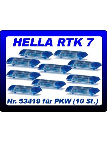 equipo 1:87 Blaulichtbalken Hella RTK 7 (10 St.) blautransparent für PKW