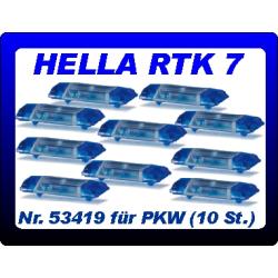 Equipment 1:87 Blaulichtbalken Hella RTK 7 (10 St.)...