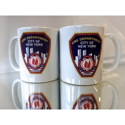 Tasse white New York City Fire Department Standard-Emblem