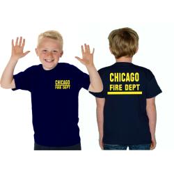 Kinder-T-Shirt navy, CHICAGO FIRE DEPT. with stripe,...