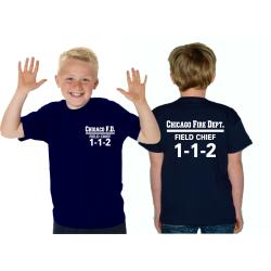 Kinder-T-Shirt navy, CHICAGO FIRE DEPT. Field Chief...