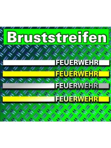 Bruststripe with Text (Farbe wie Rückseite)