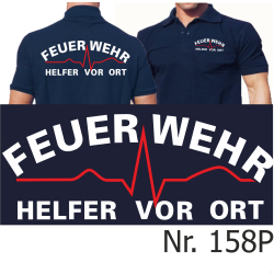 "Polo navy, ""Helfer vor Ort"""