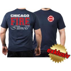 CHICAGO FIRE Dept. Illinois, twocolor, navy T-Shirt