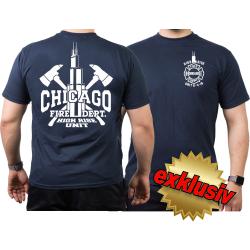 CHICAGO FIRE Dept. High Rise Unit Willis Tower, navy T-Shirt