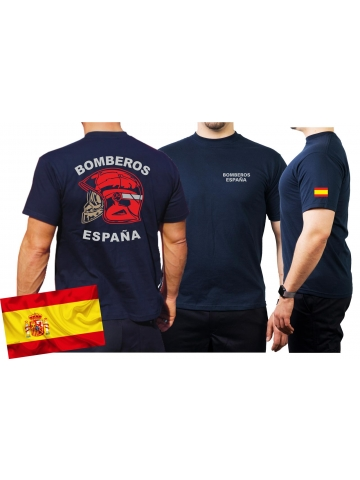 d9a134b2927c1 T-Shirt Camiseta (navy azul) BOMBEROS ESPAÑA