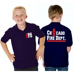 Kinder-Polo azul marino, CHICAGO FIRE DEPT. Hydrant,...