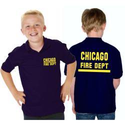 Kinder-Polo azul marino, CHICAGO FIRE DEPT. con banda,...