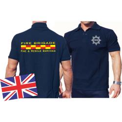 Polo navy, FIRE BRIGADE - Fire & Rescue Services