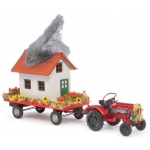 Model car 1:87 Traktor Porsche Feuerwehr-Umzug