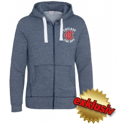 CHICAGO FIRE Dept. Hooded jacket space navy/white...