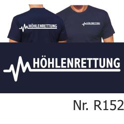 T-Shirt navy, HÖHLENRETTUNG