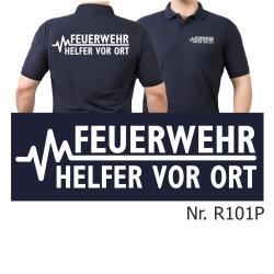 Polo navy, FEUERWEHR - Helfer vor Ort