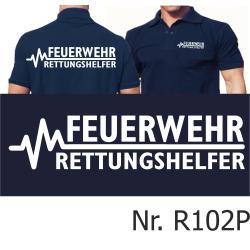 Polo navy, FEUERWEHR - RETTUNGSHELFER