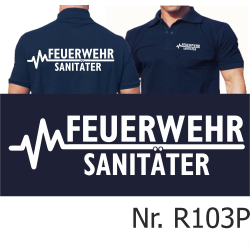 Polo navy, FEUERWEHR - SANITÄTER