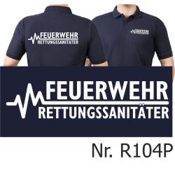 Polo navy, FEUERWEHR - RETTUNGSSANITÄTER