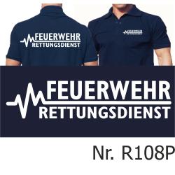 Polo navy, FEUERWEHR - RETTUNGSDIENST