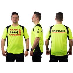 Laufshirt neonyellow, FEUERWEHR + Fit For Firefighting +...