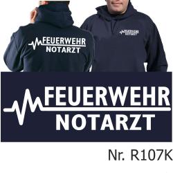 Hoodie navy, FEUERWEHR - NOTARZT
