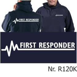 Hoodie navy, FIRST RESPONDER