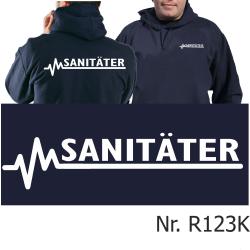 Hoodie navy, SANITÄTER