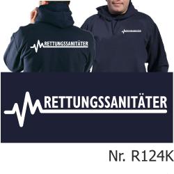 Hoodie navy, RETTUNGSSANITÄTER